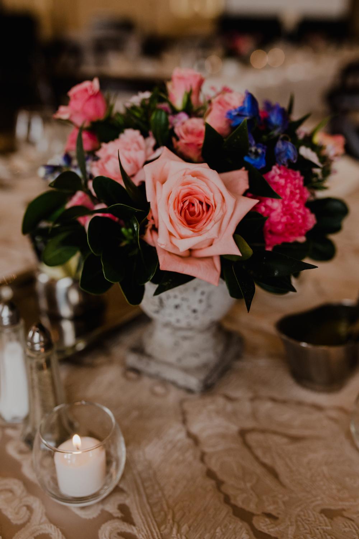 Coral Wedding Centrepieces - Wedding Florist in Winnipeg