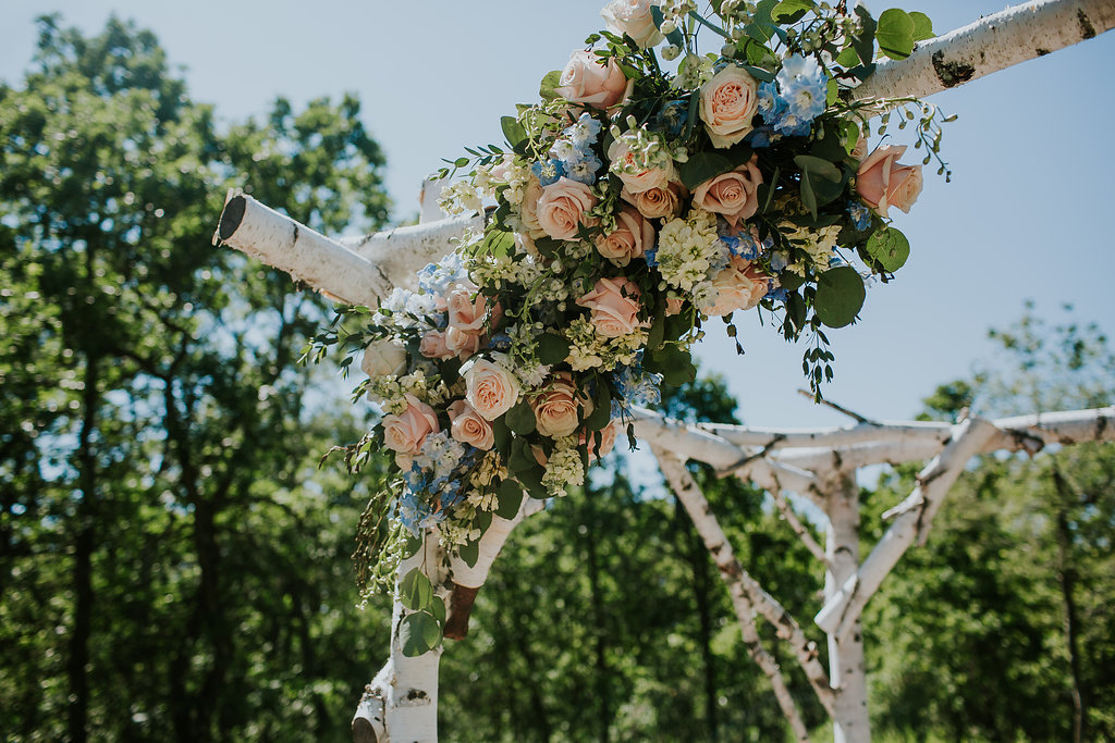 Feminine Wedding Flowers - Stone House Creative