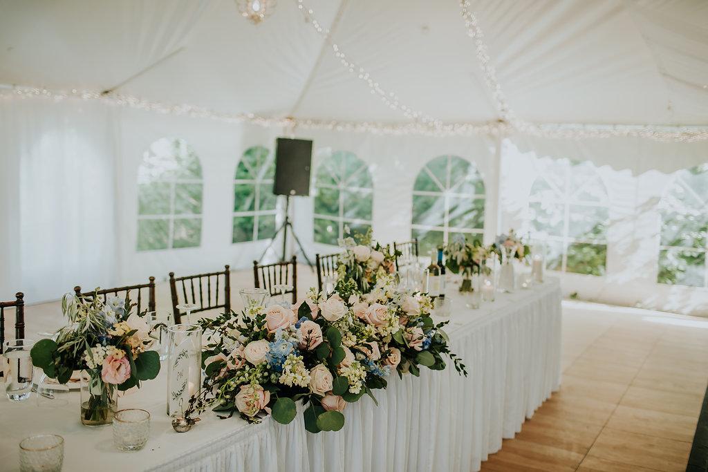 Blush and Blue Wedding Flowers - Wedding Flowers Winnipeg
