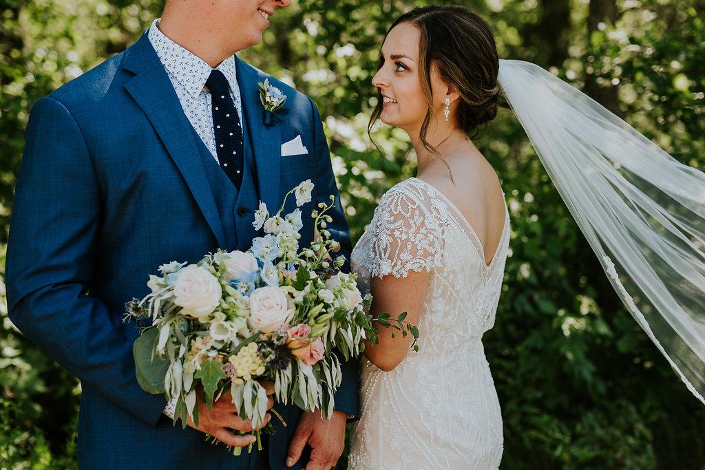Organic Wedding Bouquet - Locally Grown Wedding Flowers