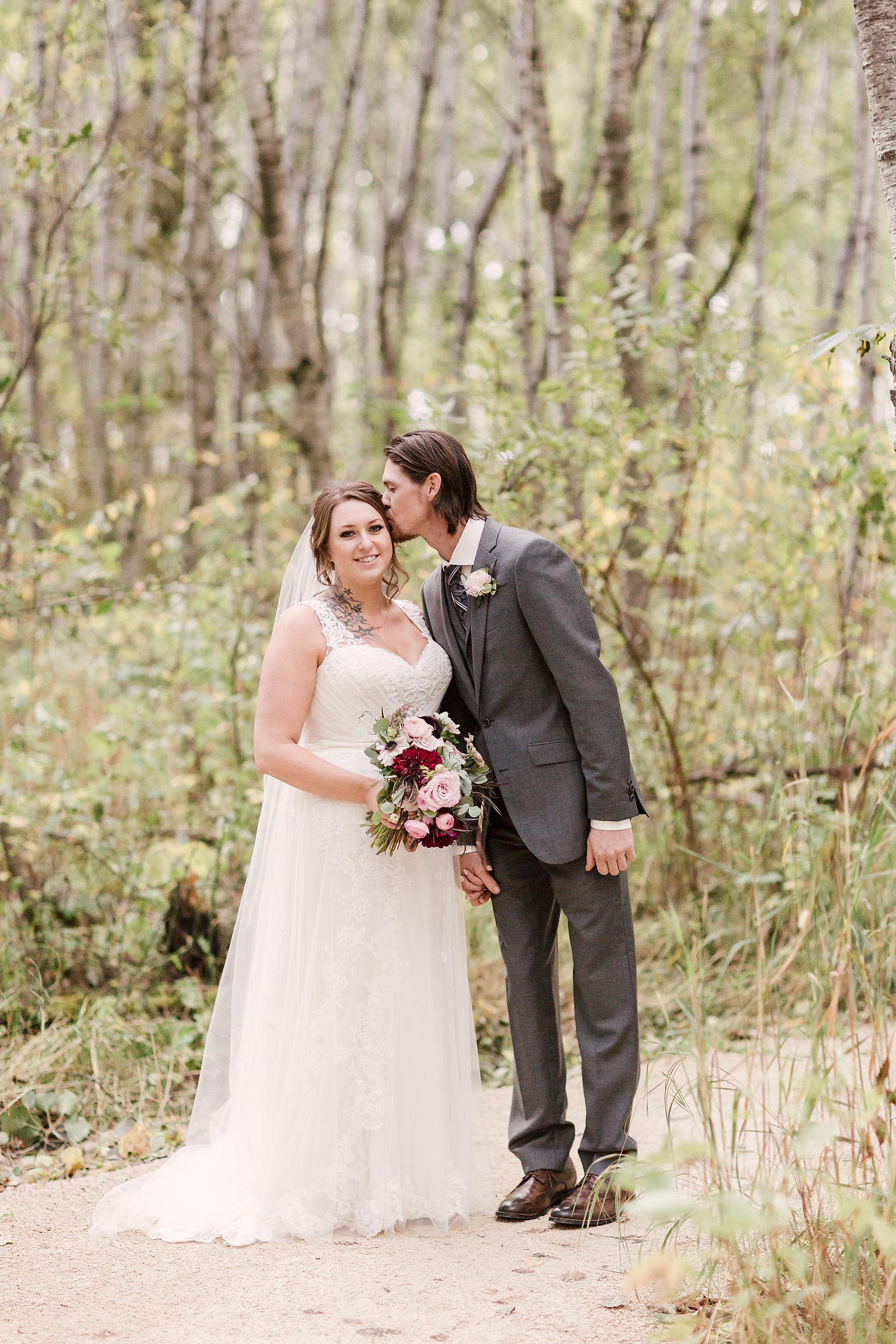 Outdoor Wedding Photos - Plum and Blush Wedding Flowers