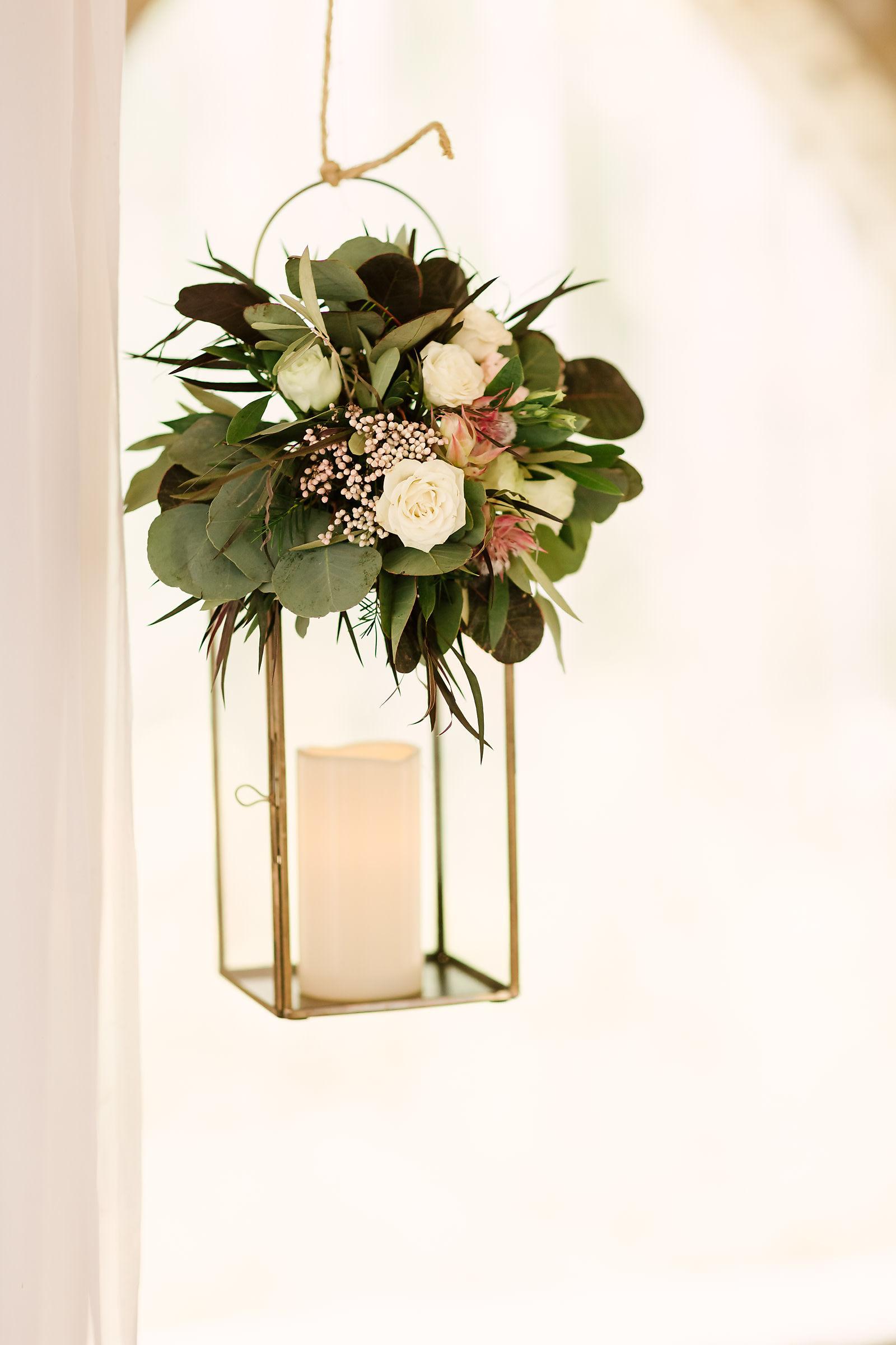 Floral Lantern Centrepiece - Winnipeg Wedding Florist