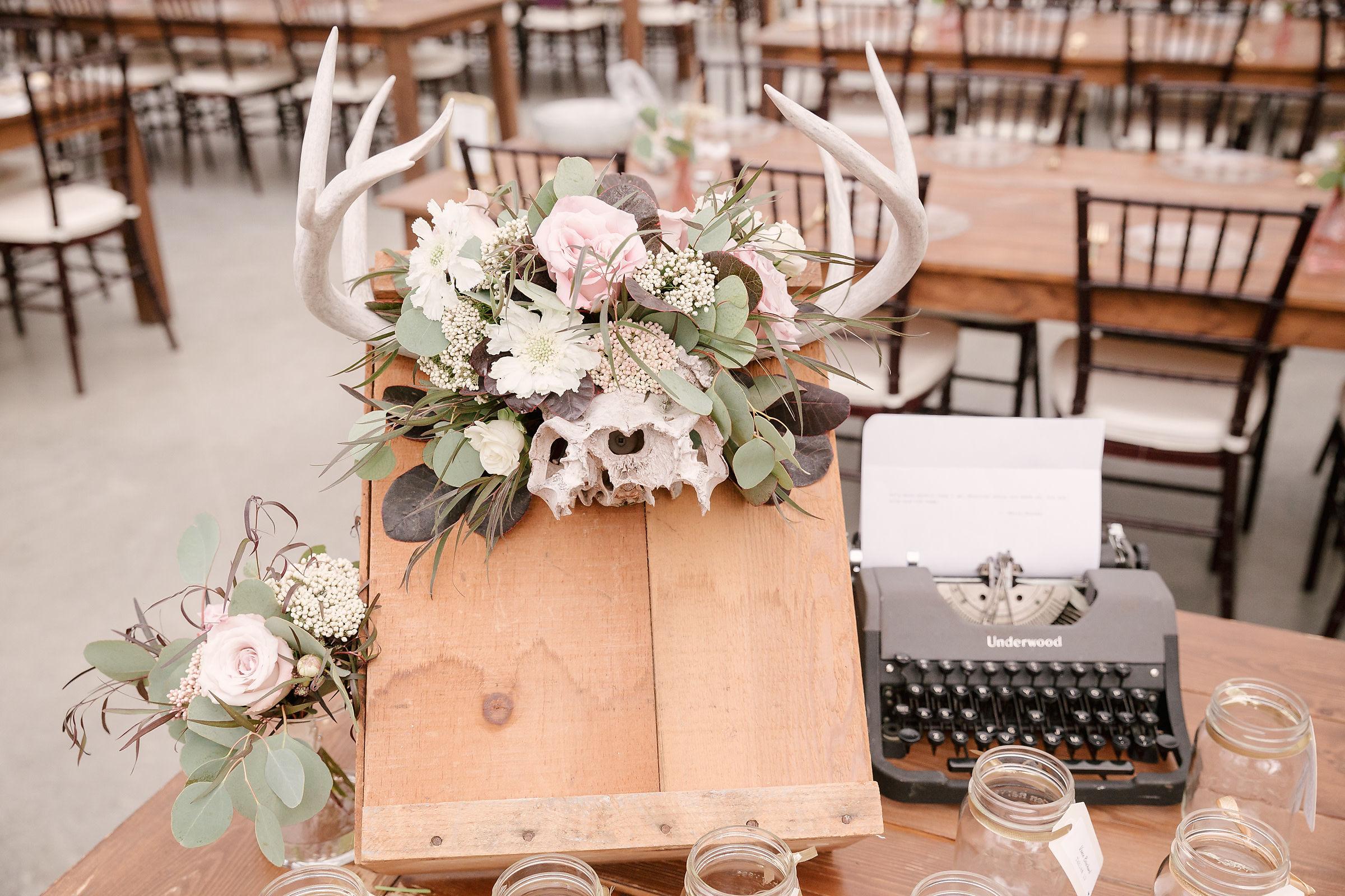 Antlers with Flowers - Wedding Florists Winnipeg