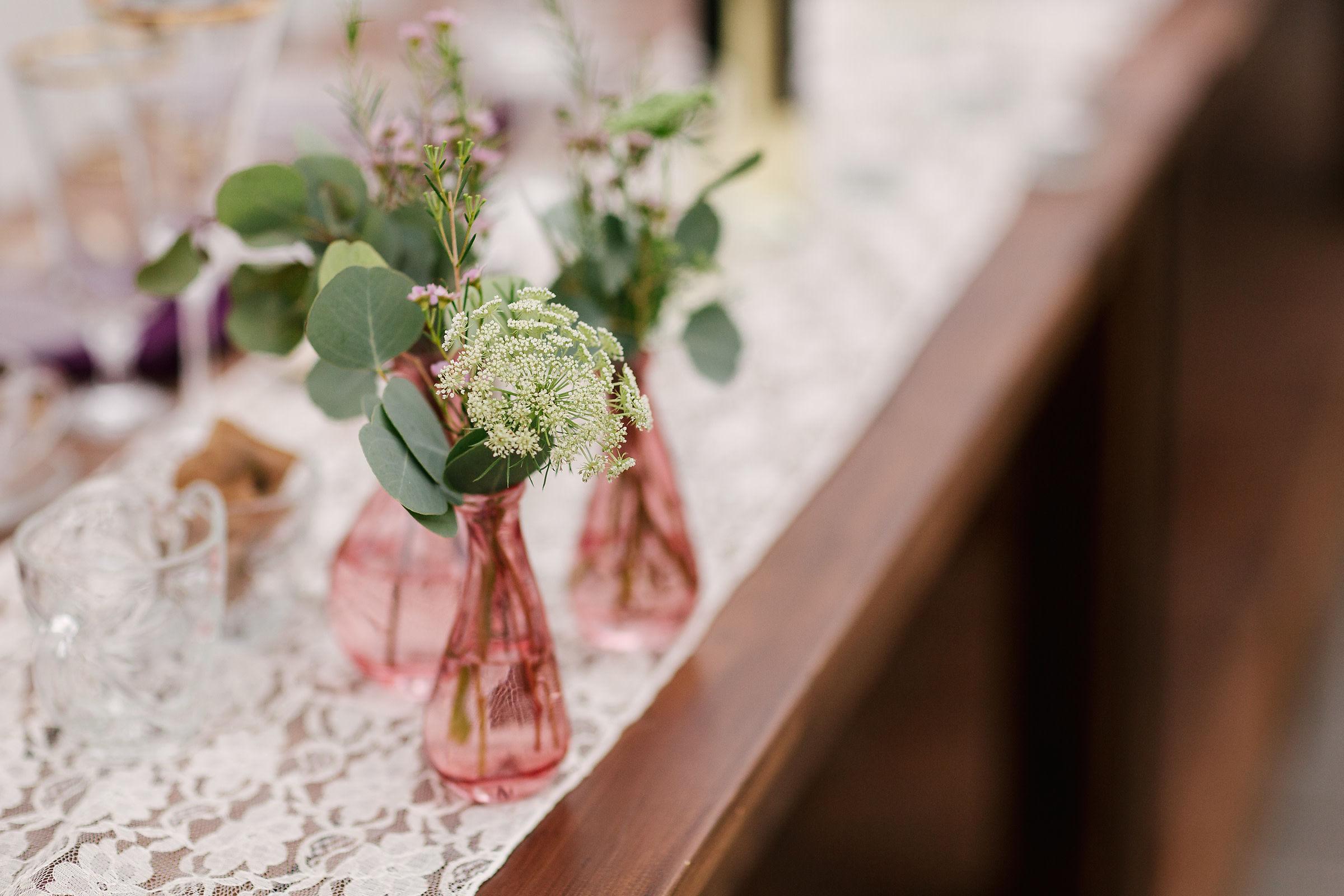 Stem Vase Wedding Decor - Inexpensive Wedding Flowers