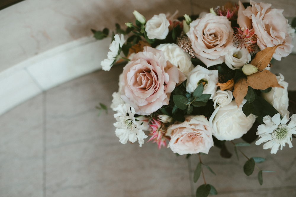 Quicksand Rose Wedding Bouquet - Wedding Flowers Winnipeg