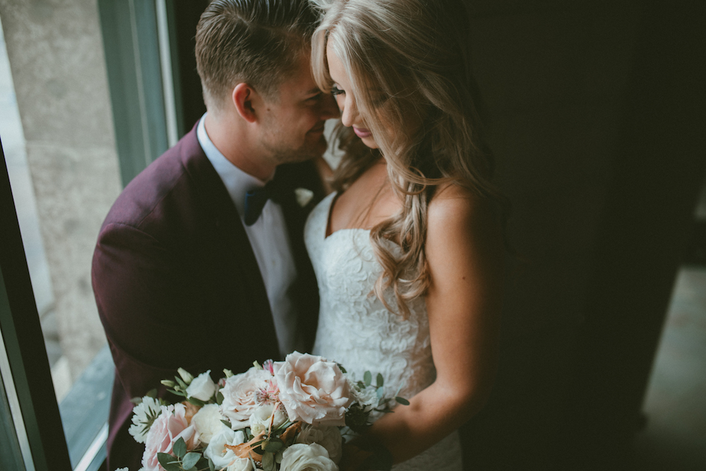 Blush and Burgundy Wedding - Winnipeg Wedding Florist