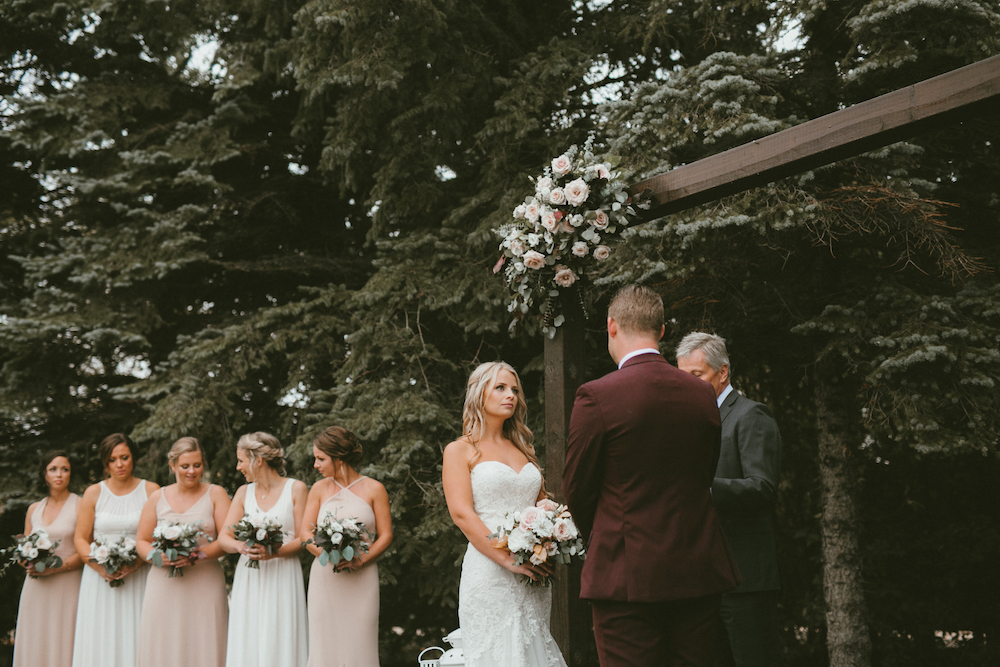 Outdoor Wedding Ceremony - Wedding Flower Arch