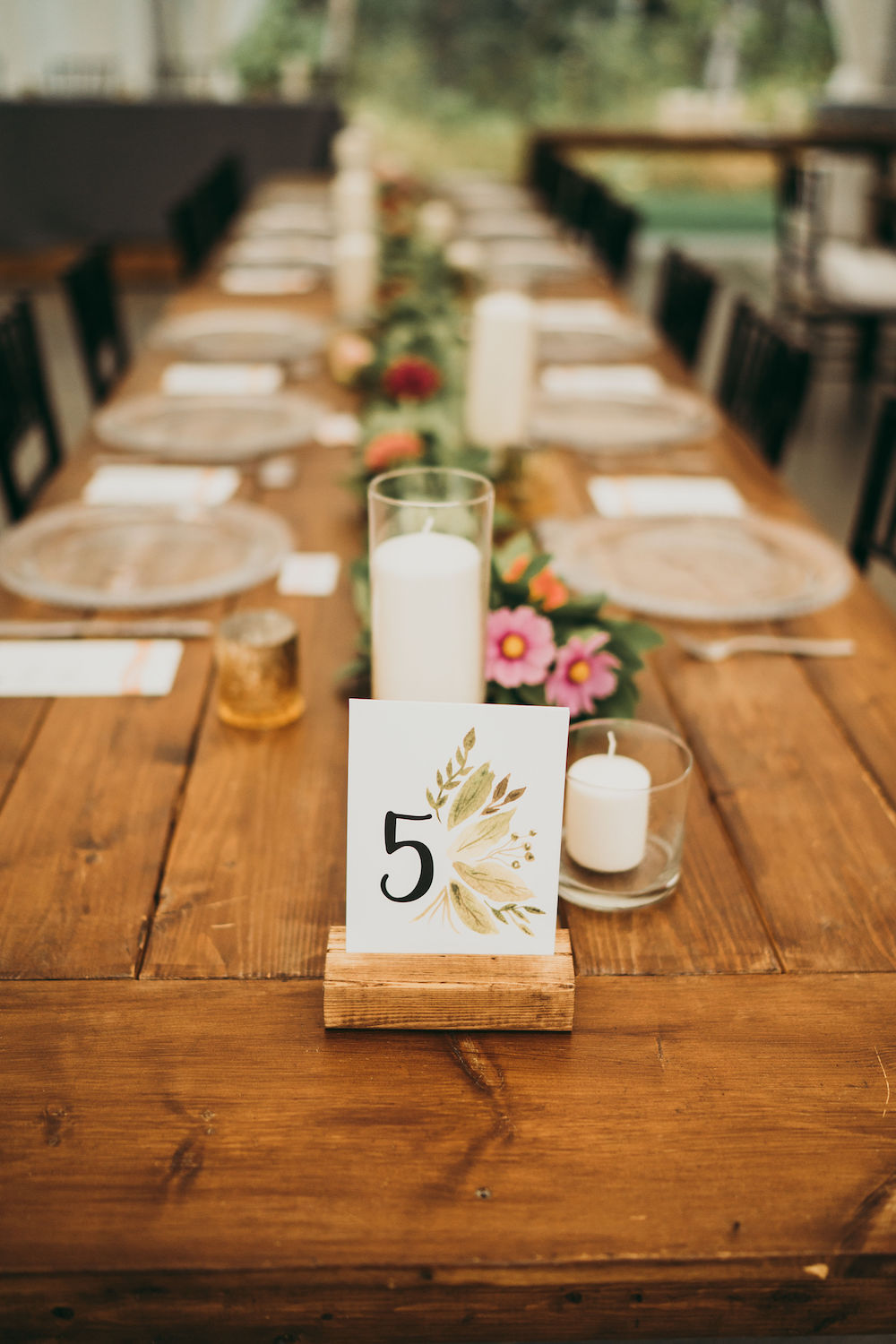 HArvest Table Centrepieces - Wedding Flower Ideas