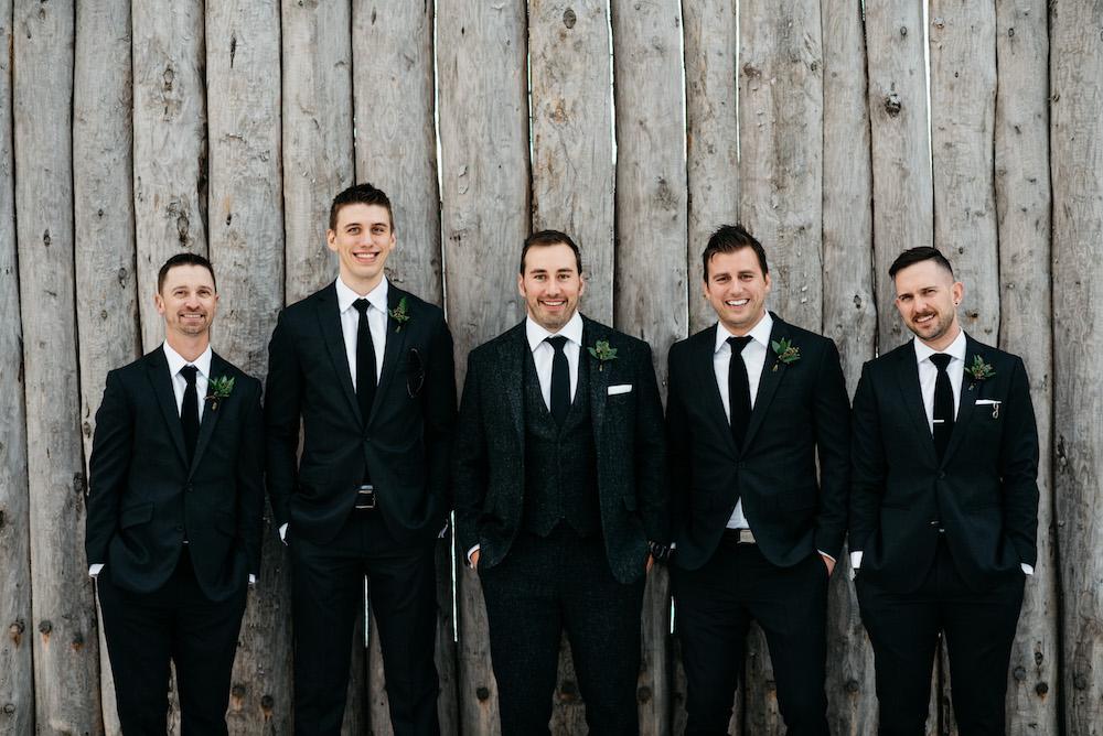 Greenery Boutonnieres - Winnipeg Wedding Florists