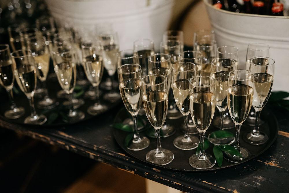 Champagne Toast - Winter Wedding Ideas