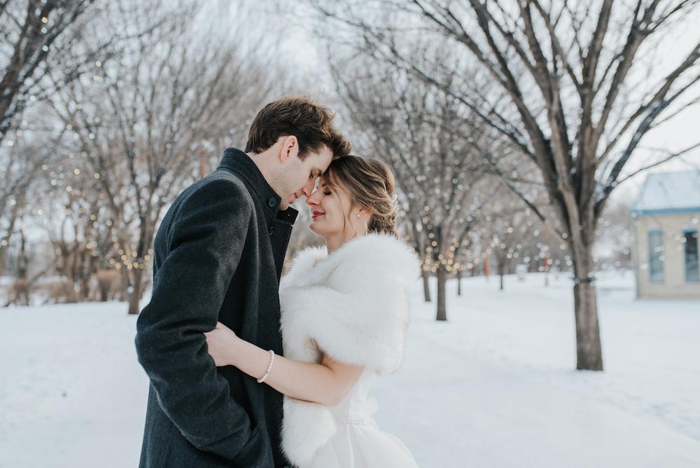 Winter Wedding in Winnipeg - Wedding Flowers Winnipeg