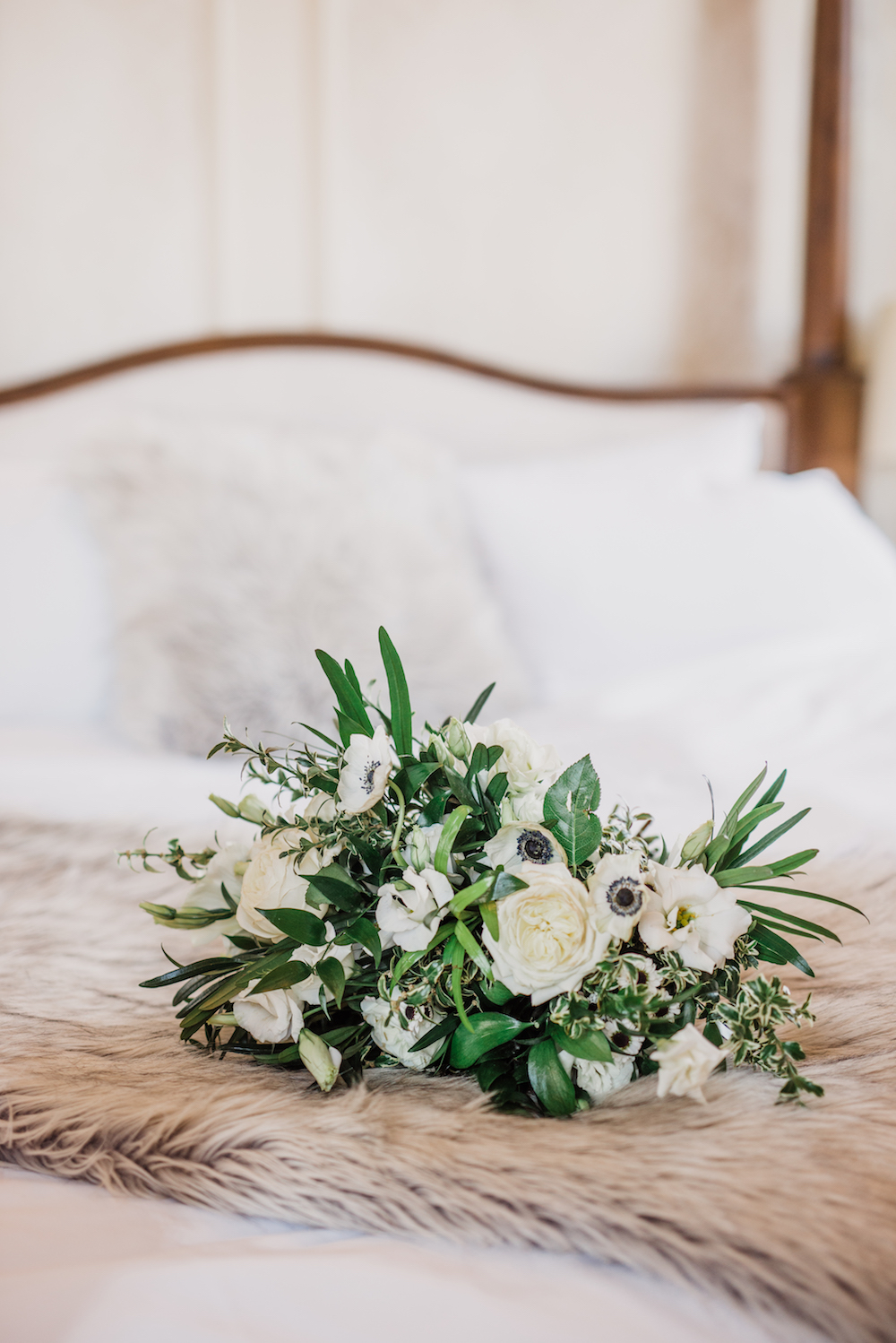 Winter White Wedding Bouquet - Stone House Creative