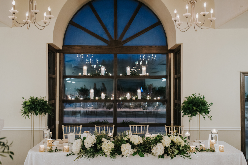 Floral Garland for a Head Table - Elegant Wedding at Breezy Bend