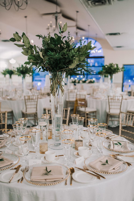 Greenery Wedding Centrepieces - Winter Wedding Decor