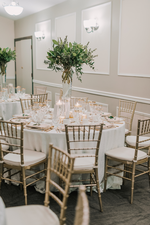 Greenery Wedding Centrepieces - Winter Wedding Flowers
