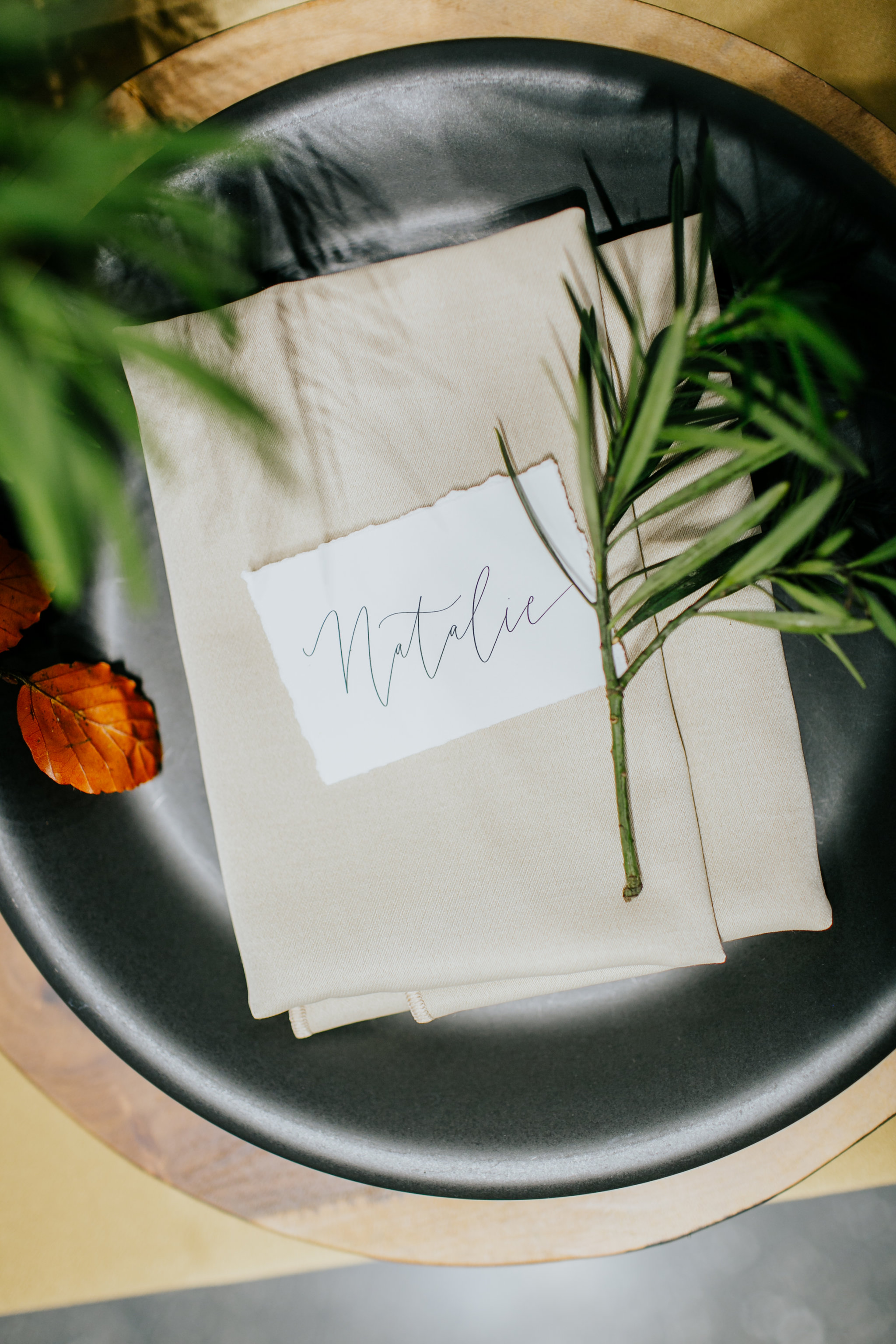 Greenery Place Settings - Wedding Florist in Winnipeg