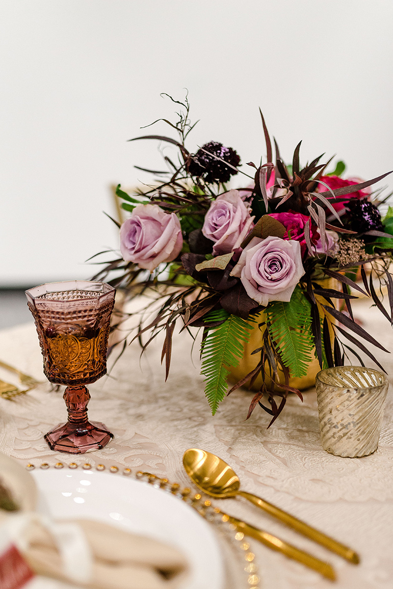 Berry Toned Wedding Centrepieces - Wedding Flowers Winnipeg
