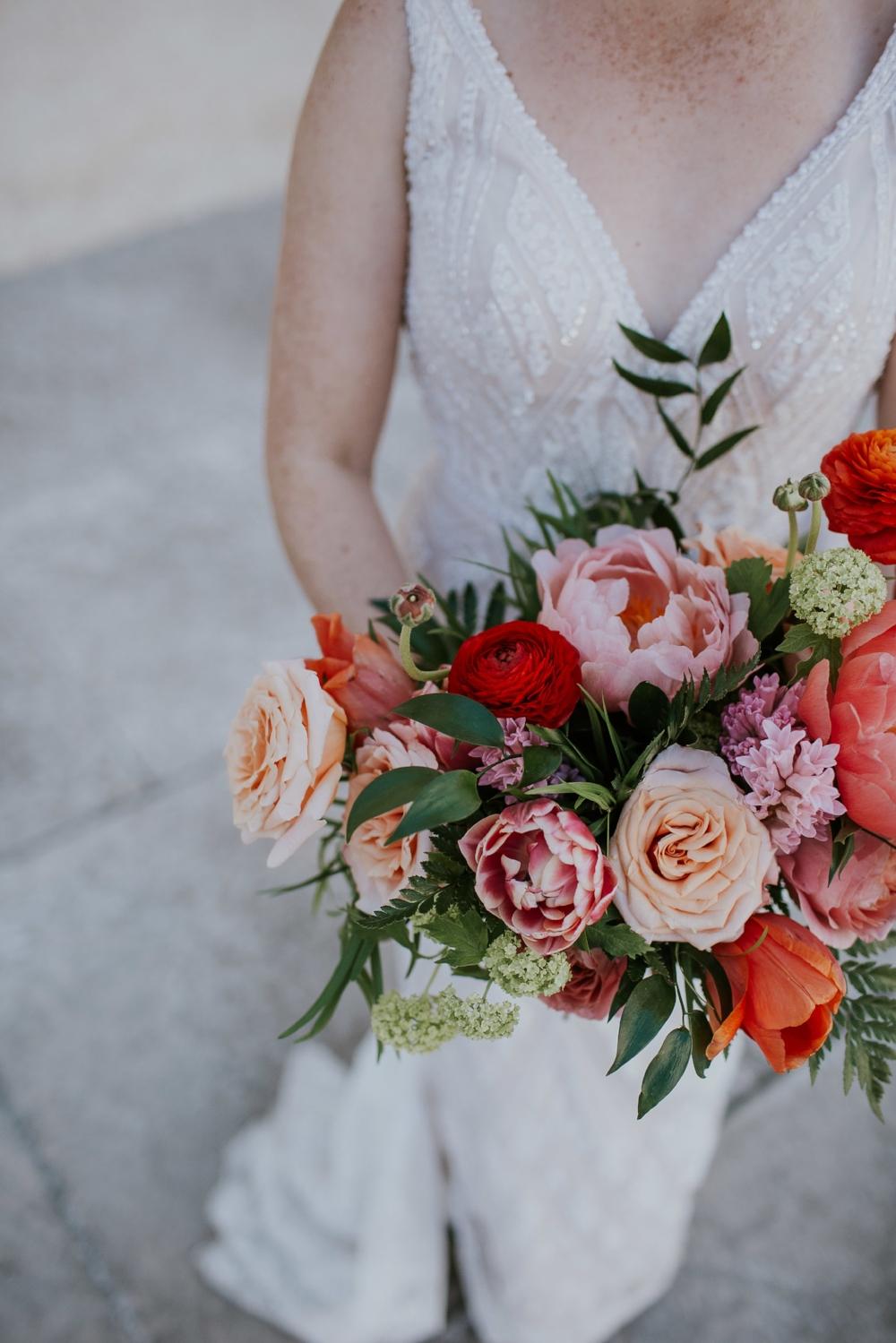 Peach and Coral Wedding Flowers - Wedding Flowers Winnipeg