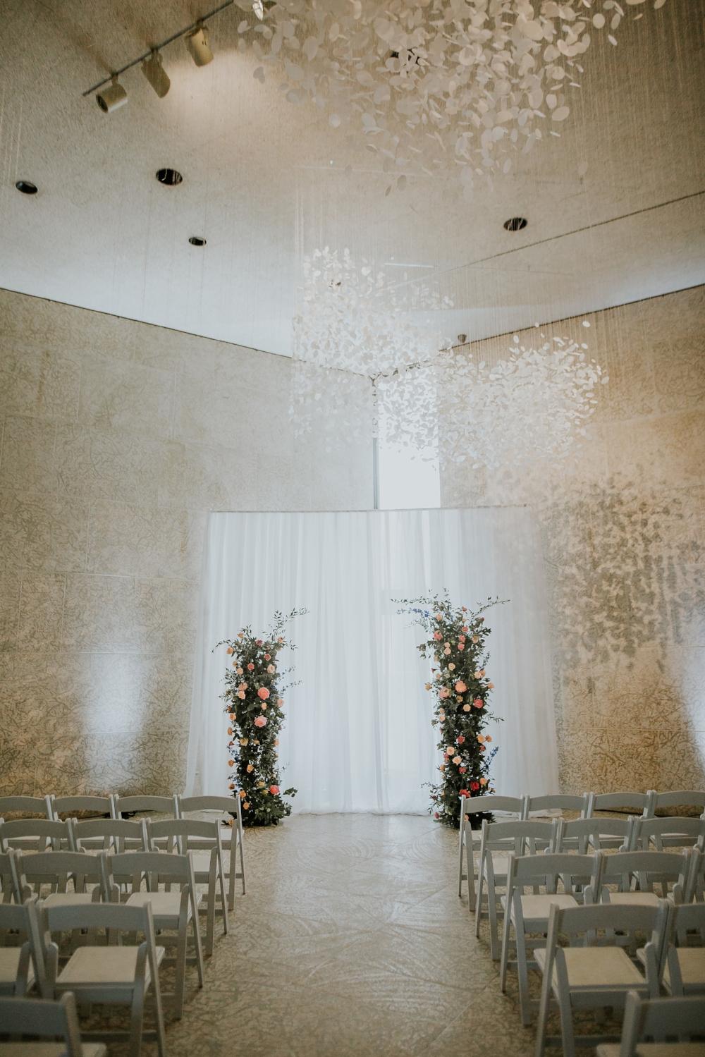 Vertical Flower Garden Wedding Ceremony - Stone House Creative