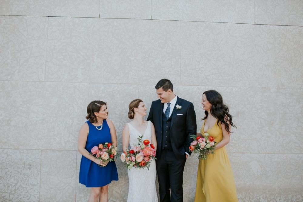 Coral and Blue Wedding - Wedding Flowers Winnipeg
