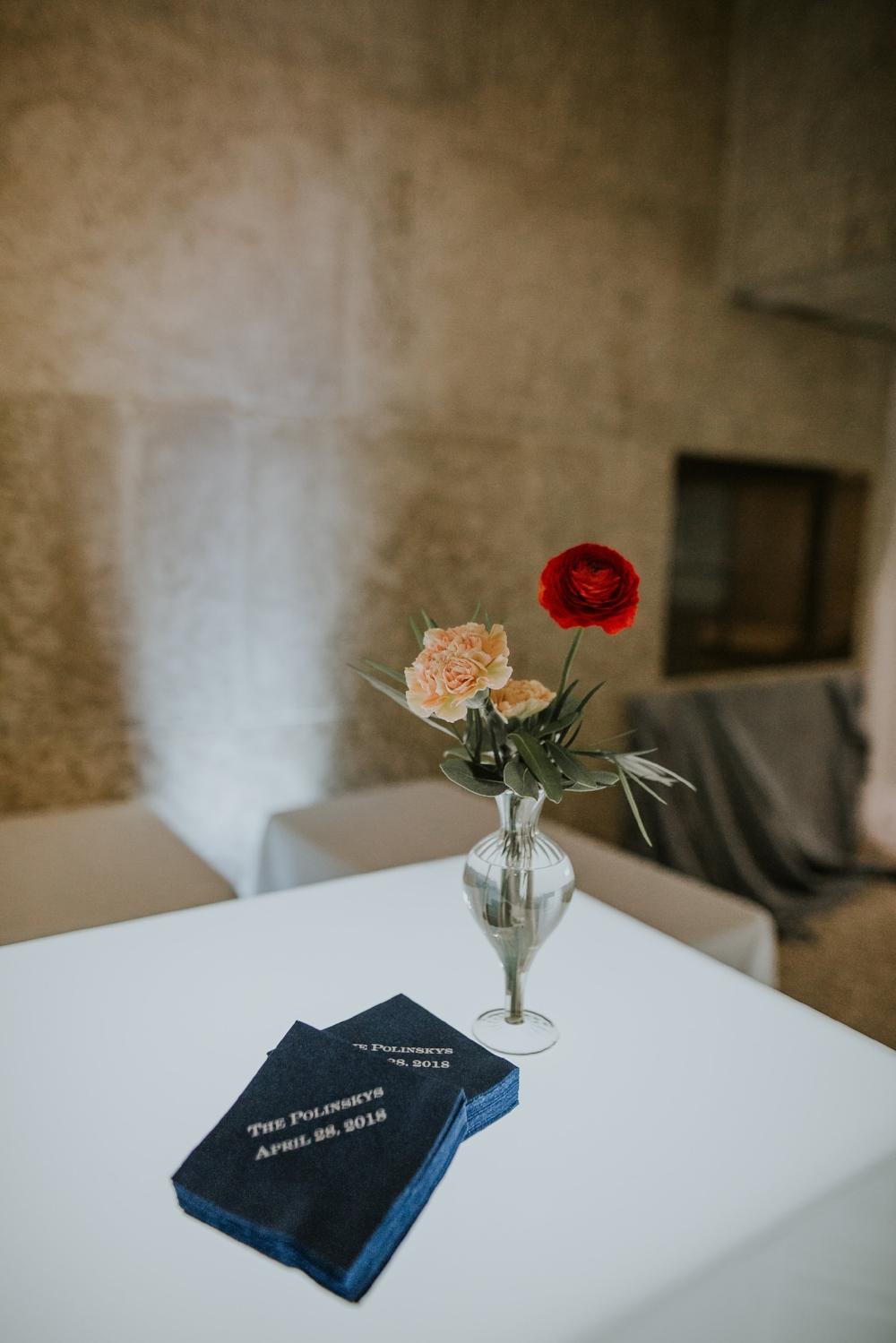 Stem Vase Wedding Decor - Winnipeg Art Gallery Wedding