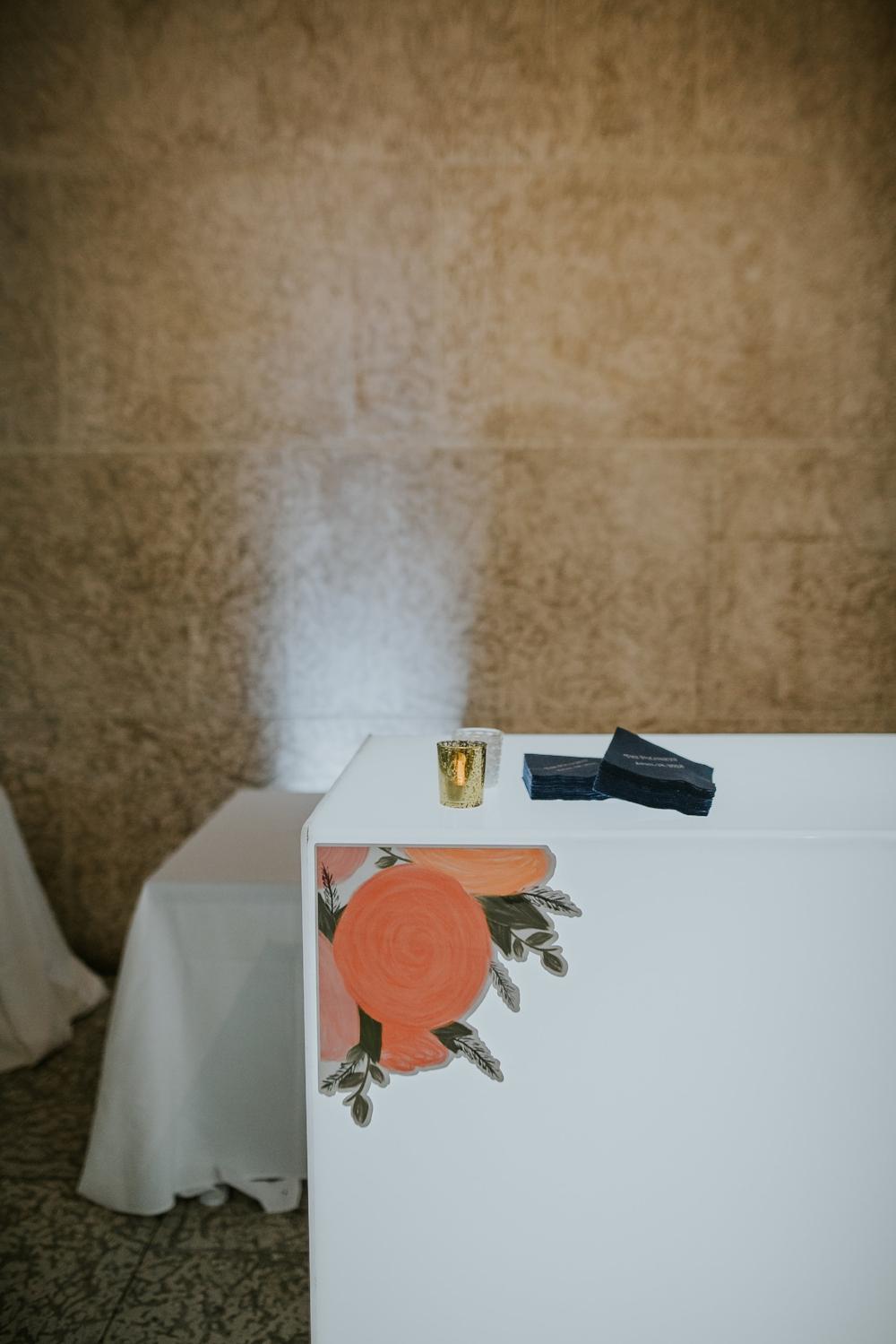 Wedding Bar with Decals - Modern Art Gallery Wedding