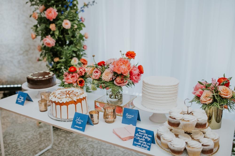 Coral and Blue Wedding Decor - Winnipeg Florists
