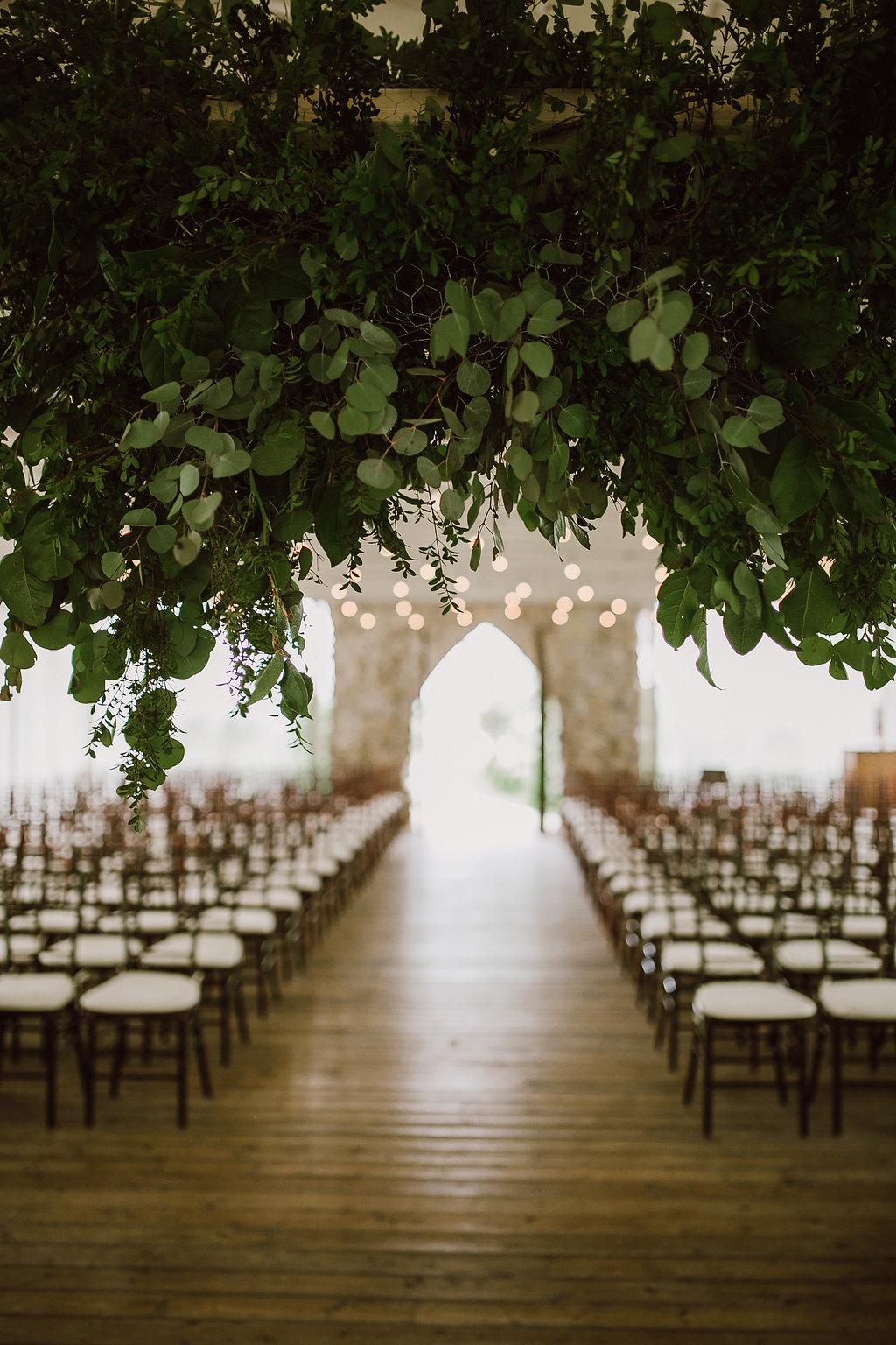 Hanging Greenery Installation - Wedding Decor at Cielo's Garden