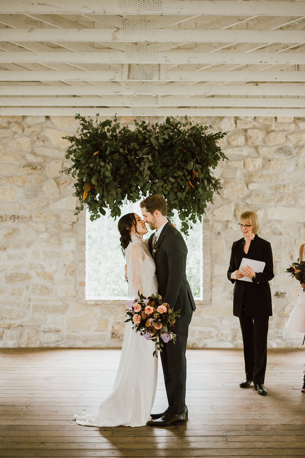 Hanging Greenery Wedding Backdrop - Weddings at Cielo's Garden