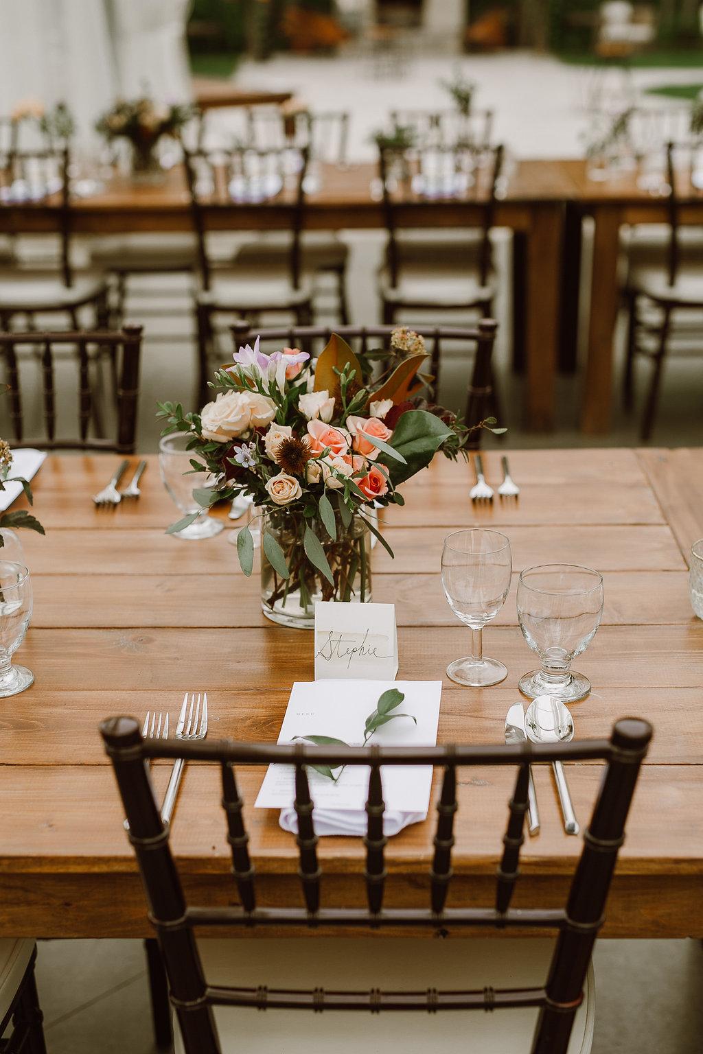 Winnipeg Wedding Florist - Garden inspired Wedding Centrepieces