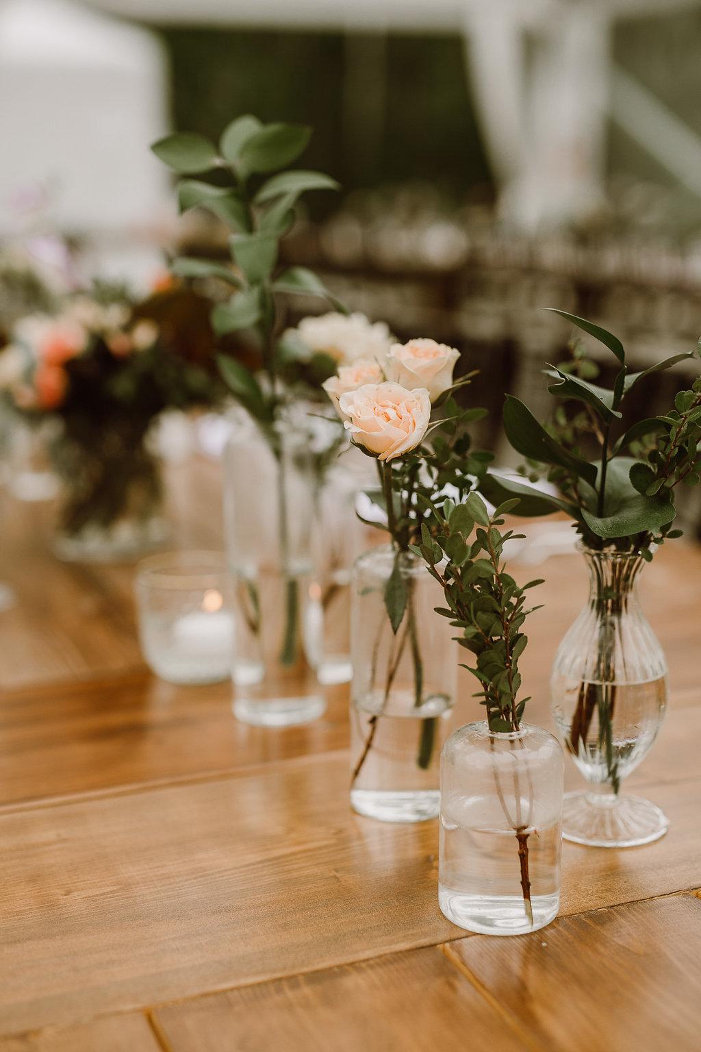Eclectic Wedding Centrepieces - Winnipeg Wedding Flowers