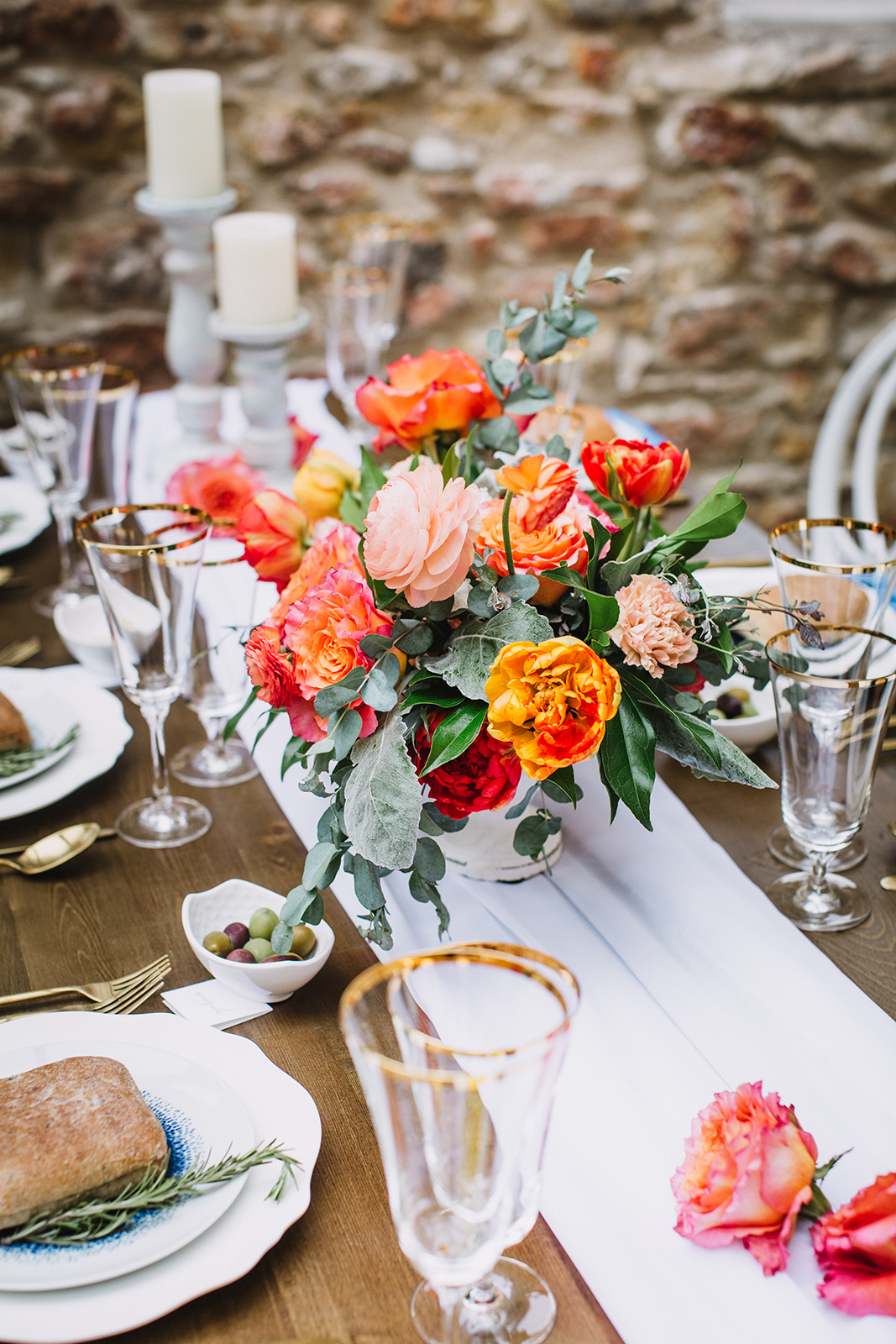 Modern Orange Wedding Ideas - Wedding Florists Winnipeg