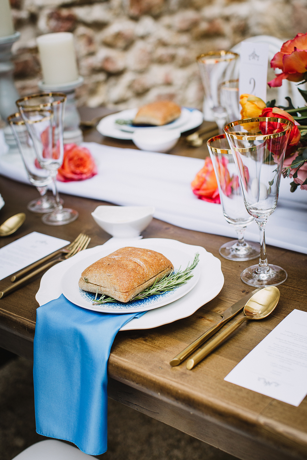 Bread Place Settings at Wedding - Winnipeg Wedding Ideas