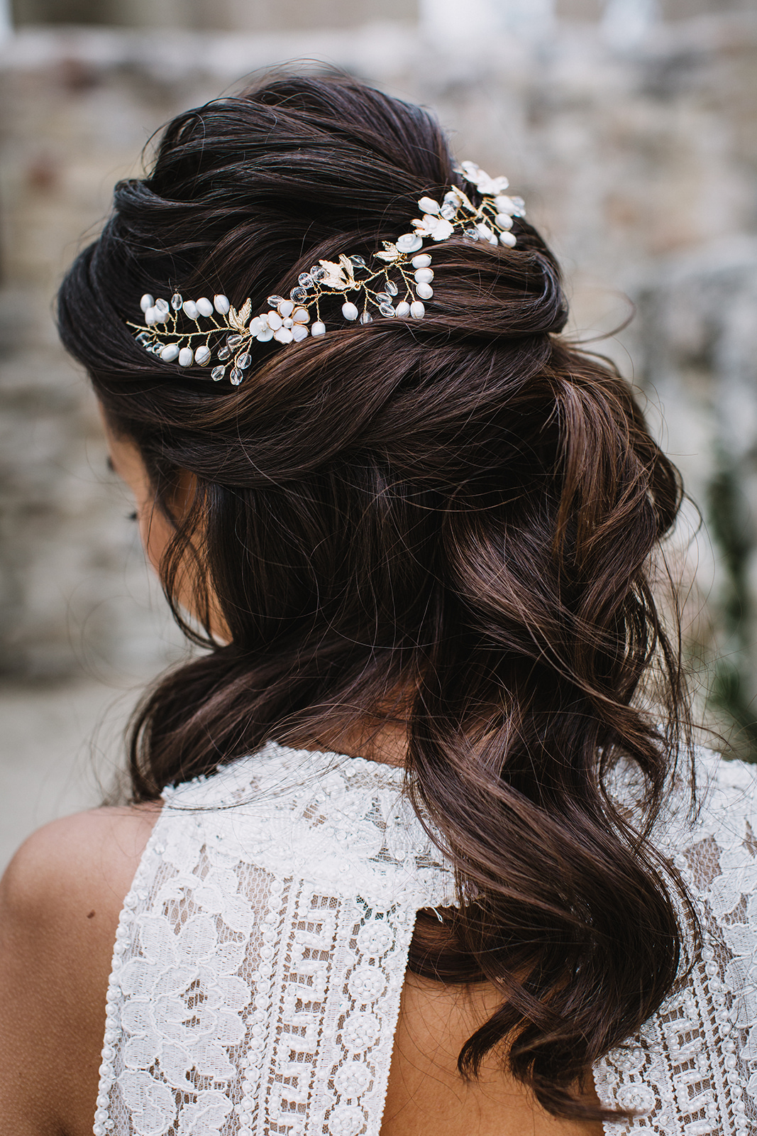 Beaded Wedding Hairpiece - Wedding Hair Ideas
