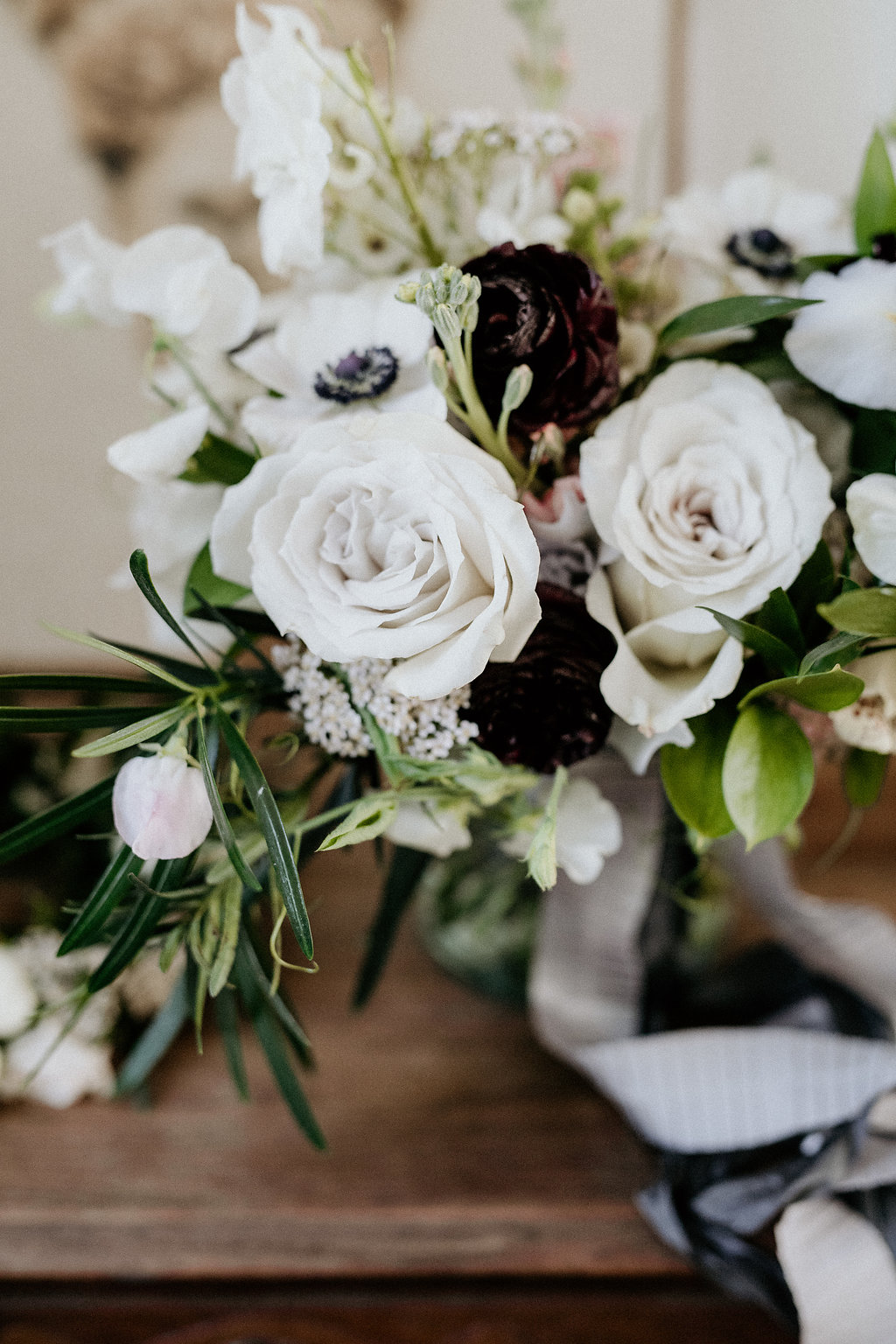 Neutral and Elegant Wedding Bouquet - Wedding Florists in Winnipeg
