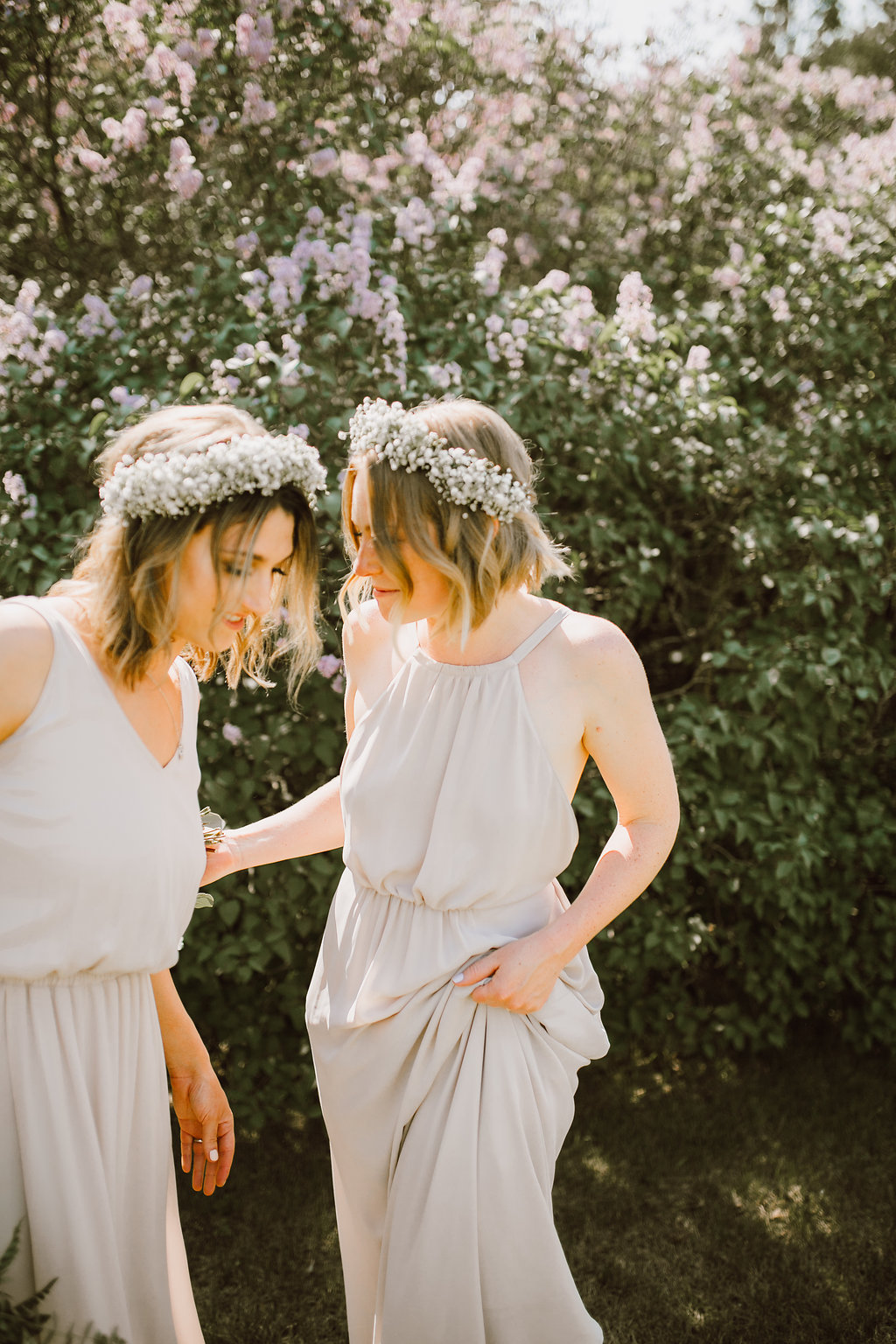Baby's Breath Flower Crowns - Whimsical Wedding Flowers