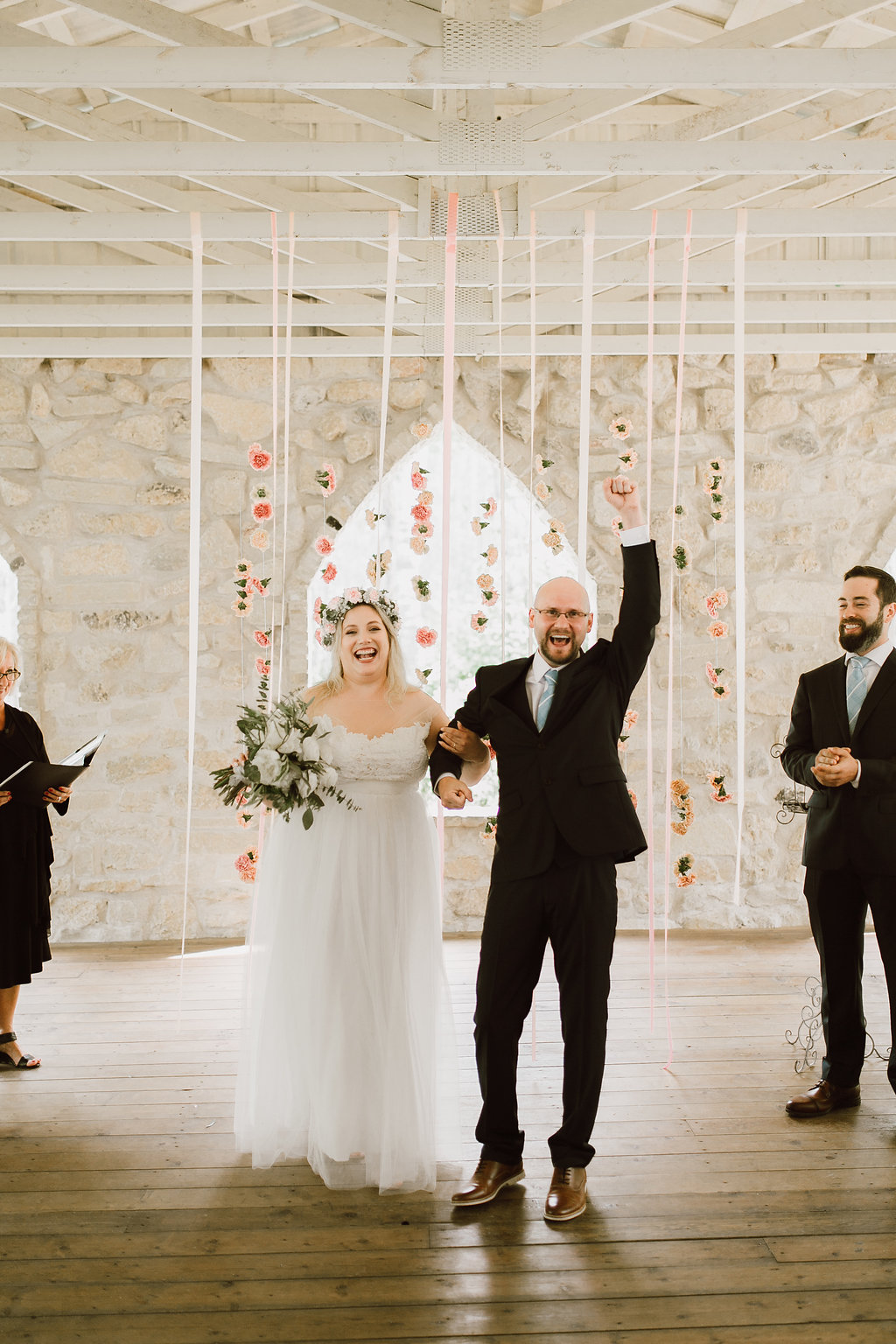 Hanging Ribbon and Flower Backdrop - Whimsical Wedding Flower Inspiration