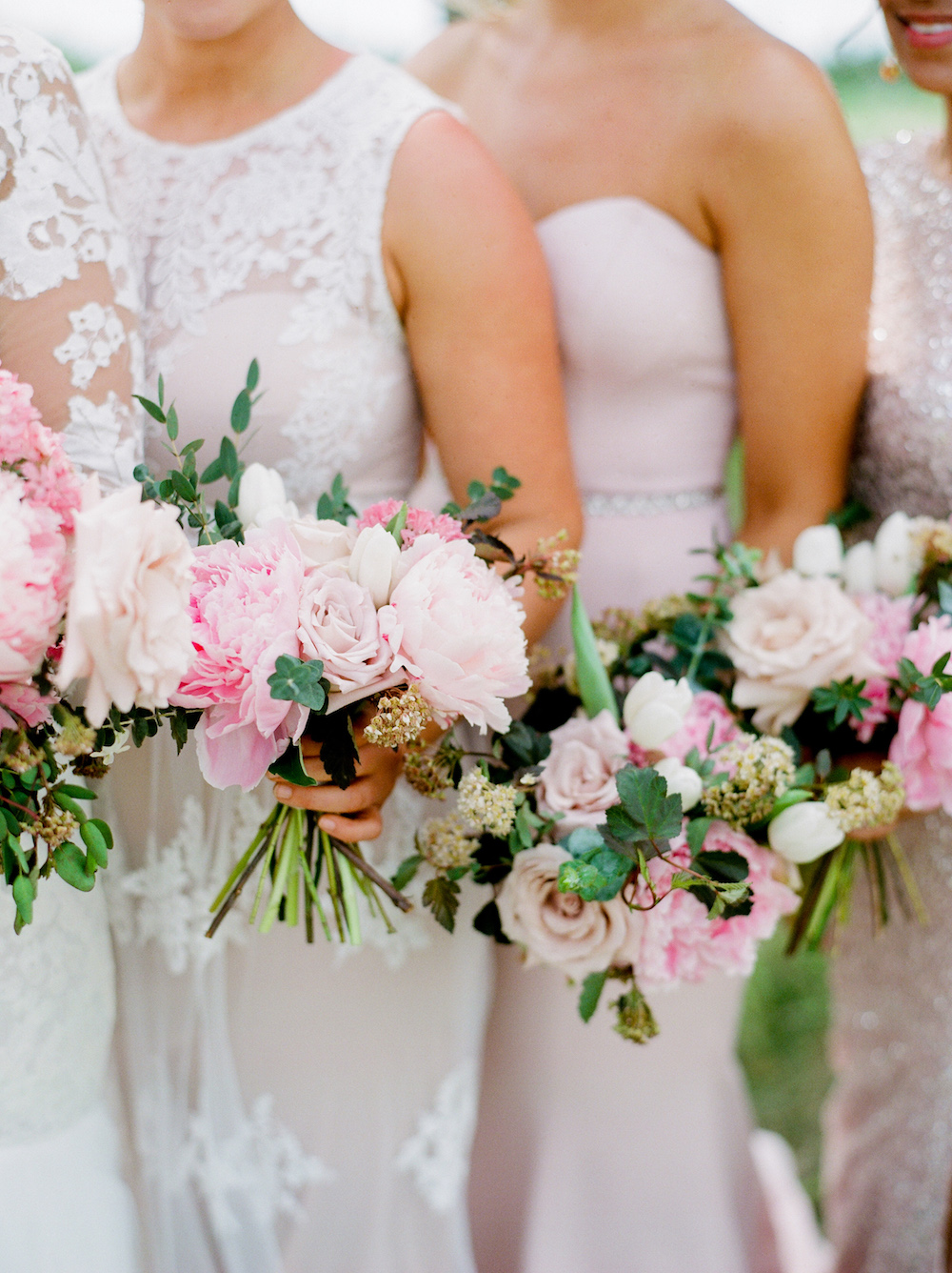 Blush and Berry Wedding Flowers - Winnipeg Wedding Florists