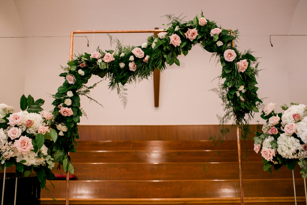 Copper Arch Wedding Flowers - Winnipeg Wedding Flowers