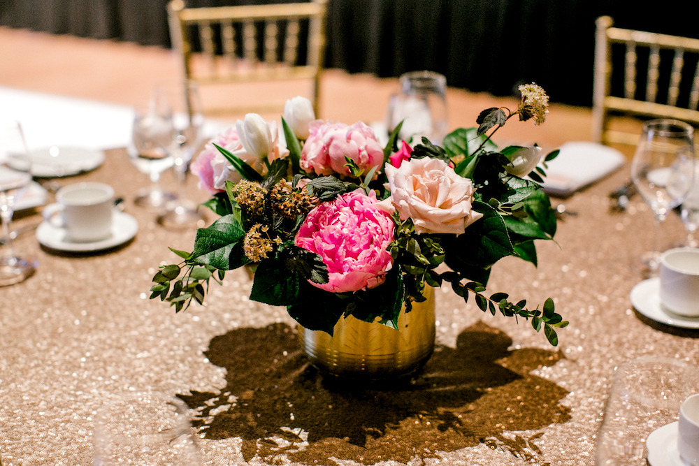 Peony Wedding Centrepieces - Wedding Flowers Winnipeg
