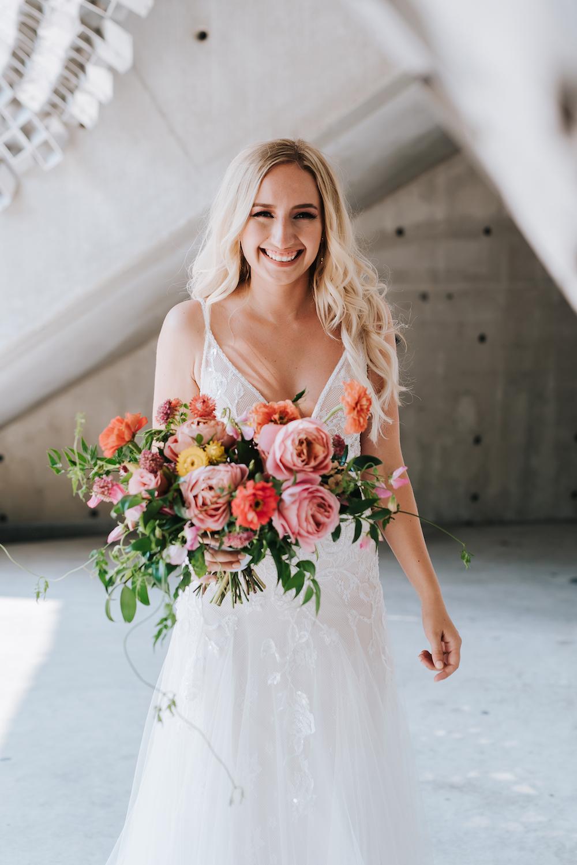 Coral and Orange Wedding Flowers - Winnipeg Wedding Florist