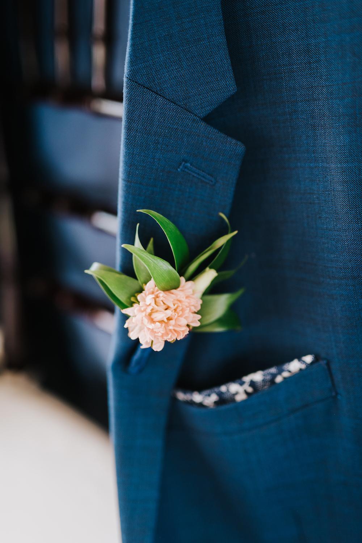 Peach Aster Boutonniere - Winnipeg Wedding Florists