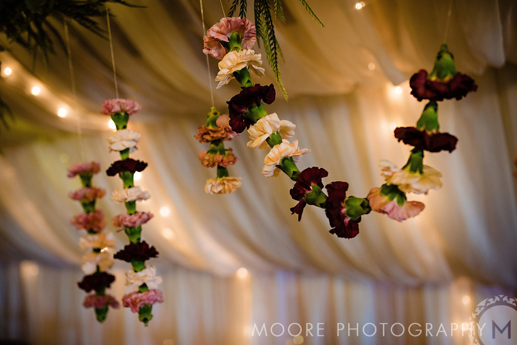 Hanging Flower Installation - Garden Inspired Wedding Flowers Winnipeg