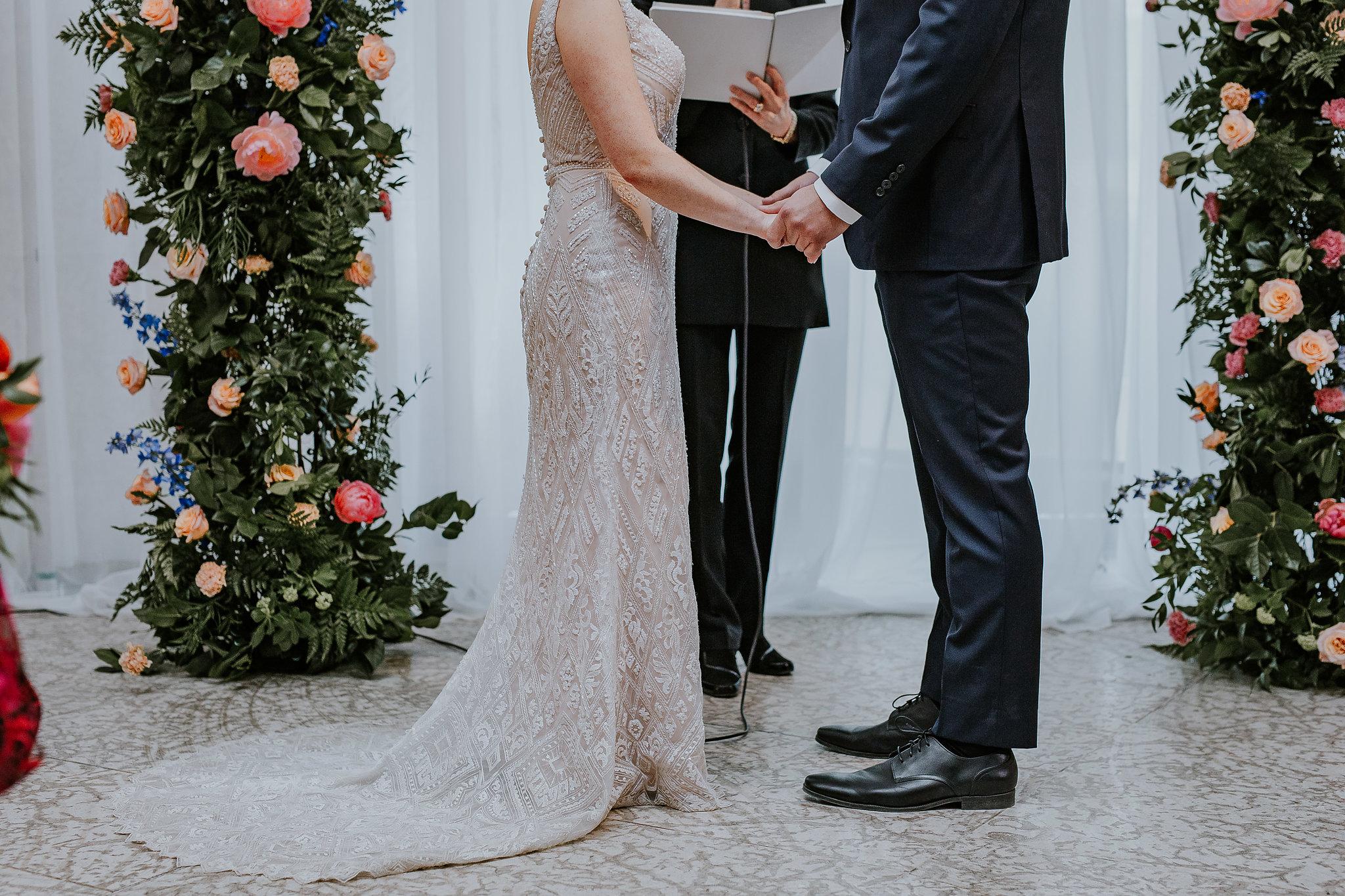 Deconstructed Wedding Ceremony Arch - Wedding Ceremony Flowers