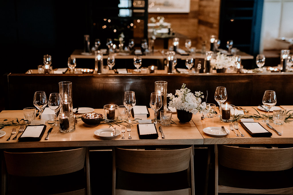 Modern Restaurant Wedding - Smith Restaurant Wedding