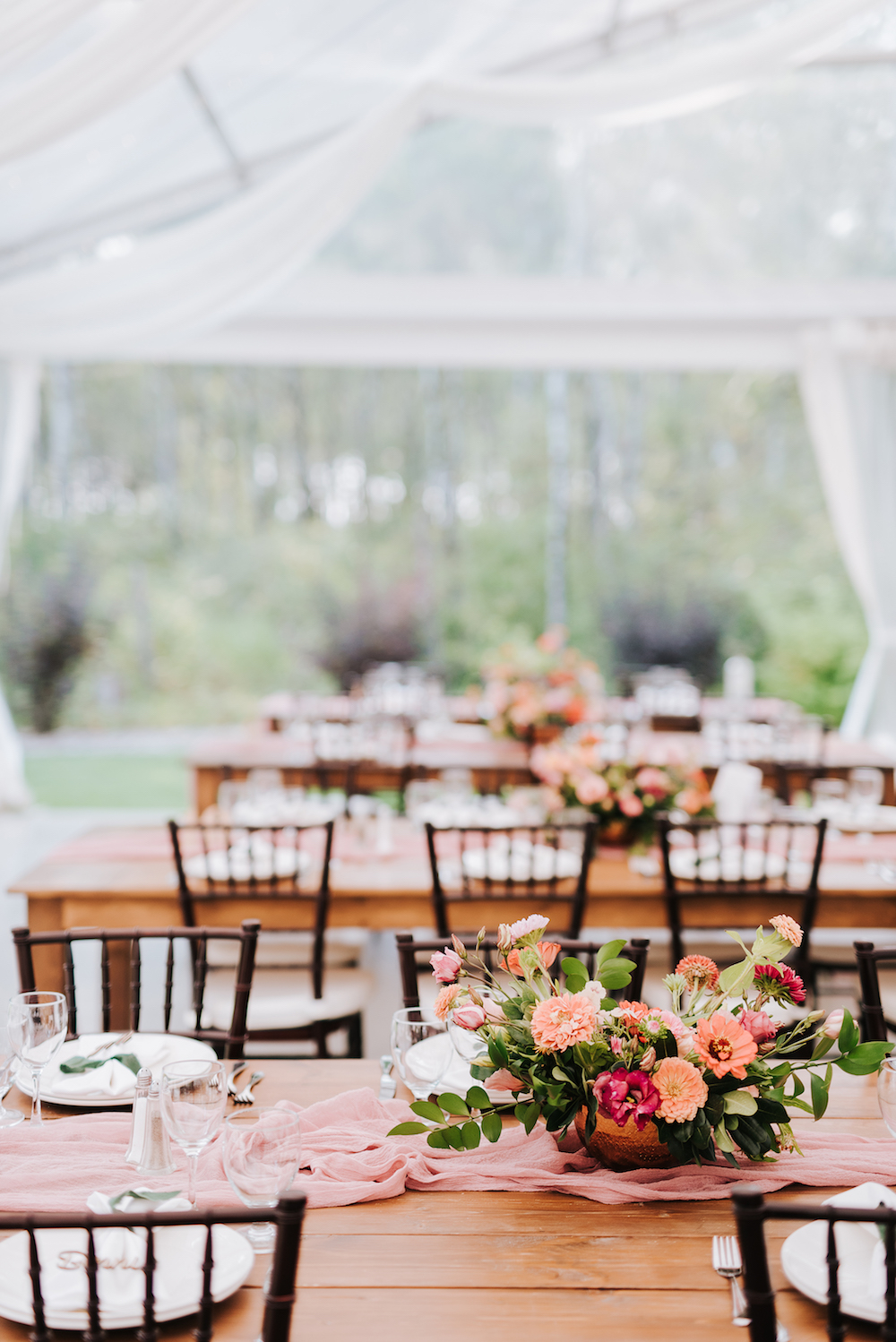 Garden Inspired Wedding Centrepieces - Cielo's Garden Wedding by Stone House Creative