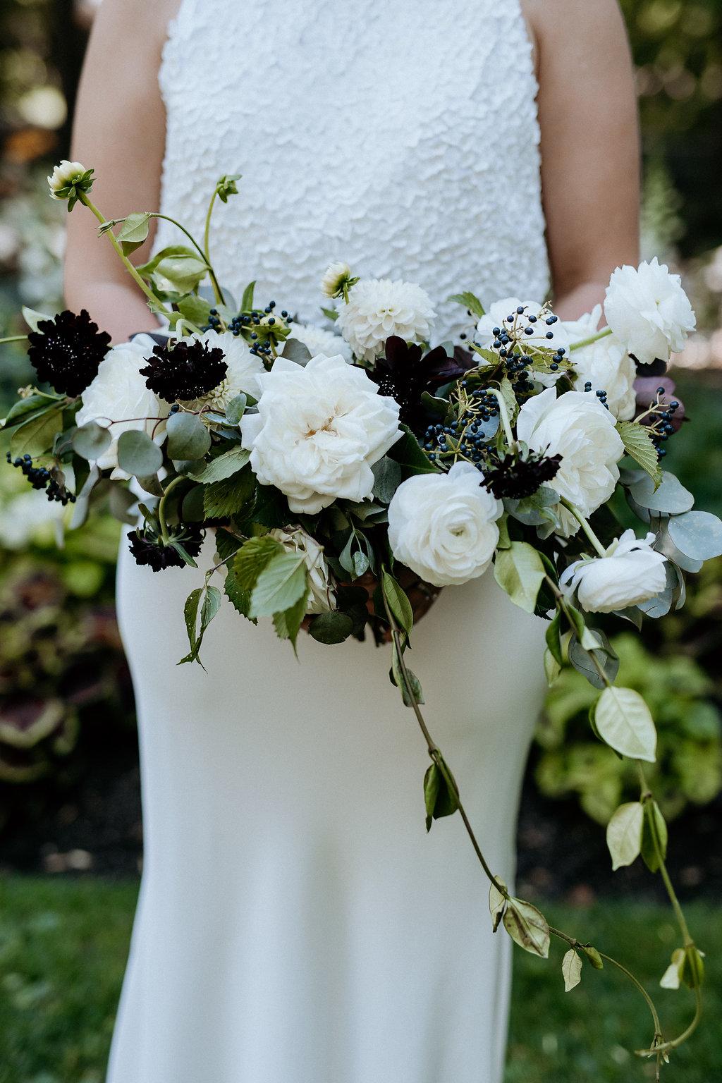 Modern Black and White Bridal Bouquet - Best Wedding Florists in Winnipeg