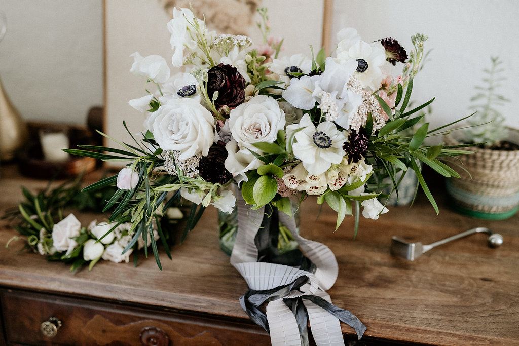 Muted Lavender and Plum Wedding Flowers - Garden Style Wedding Flowers in Winnipeg