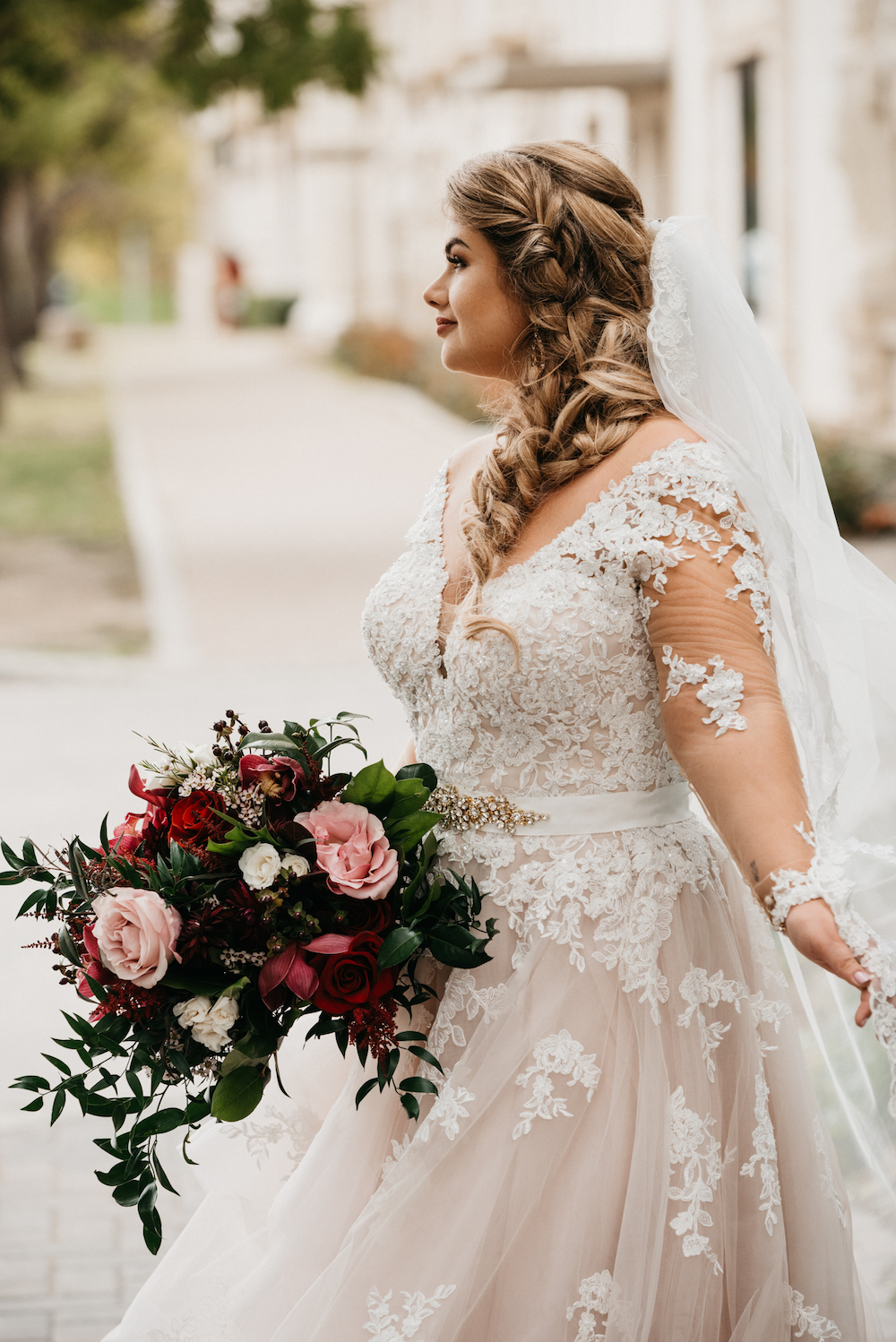 Luxurious Fall Bridal Bouquet - Wedding Flowers Winnipeg