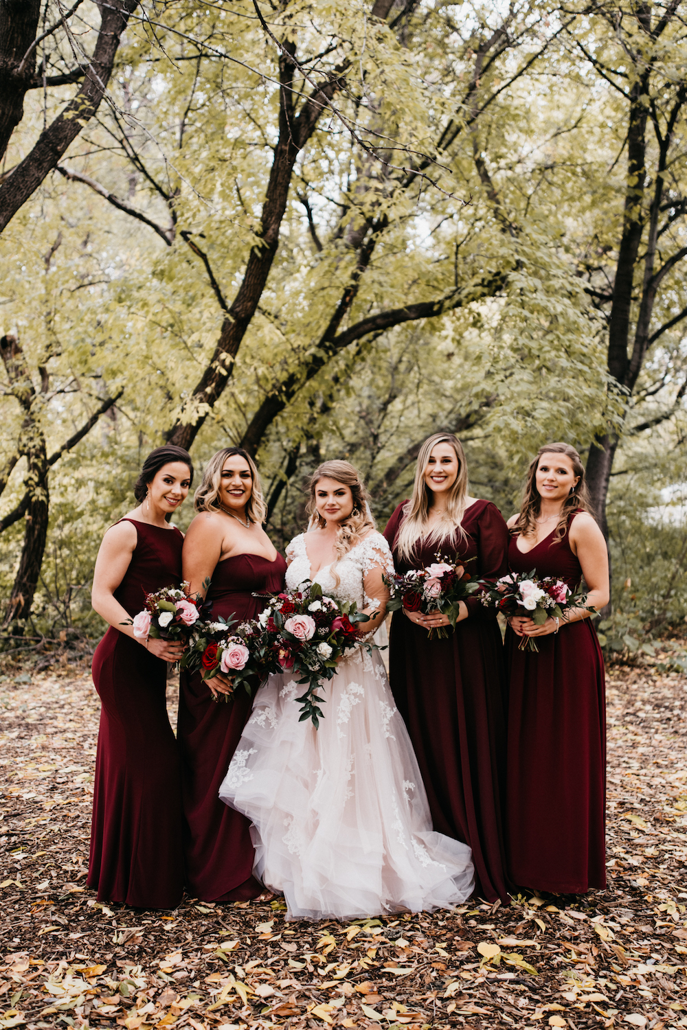 Wine and Pink Wedding Colours - Fall Wedding at Hawthorn Estates